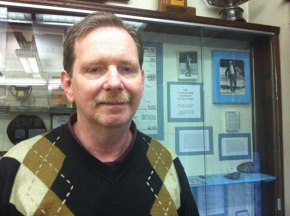 Dale Spencer, curator of the Lake Ronkonkoma Historical