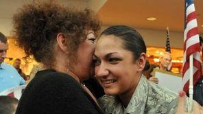 Susanne Feuer of Staten Island welcomes her daughter