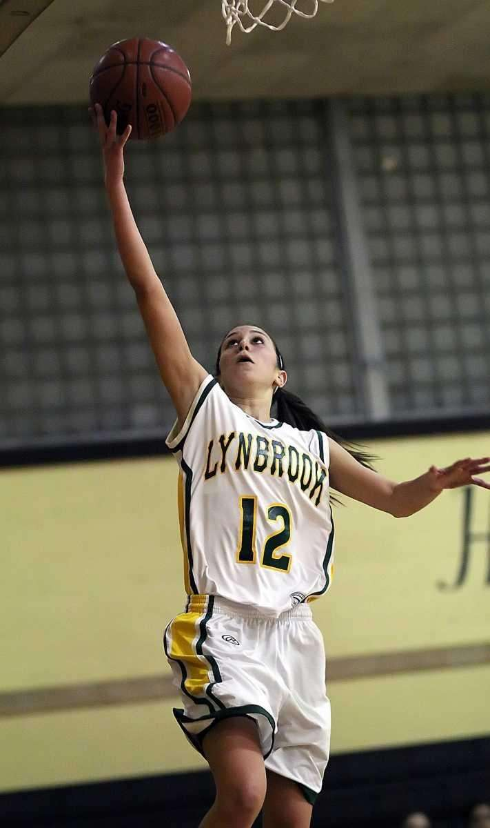 Lynbrook's Brooke Gerstman with a layup during a
