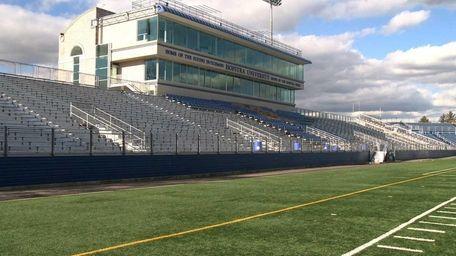 Hempstead: An empty James M. Shuart Stadium at
