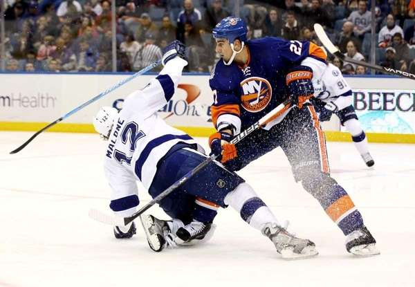Milan Jurcina #27 of the New York Islanders