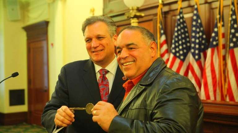 Nassau Executive Ed Mangano and actor Joseph Gannascoli