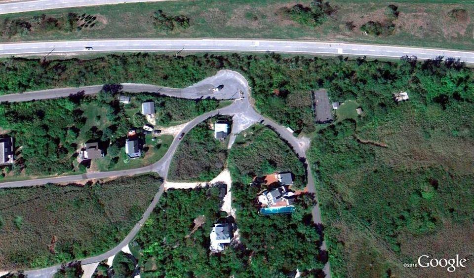 A Google Earth image of Oak Beach. Authorities