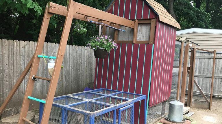 This chicken coop is in the West Babylon