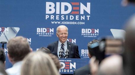Democratic presidential candidate Joe Biden in Manhattan on