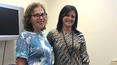 Southampton Town Human Resources director Sandra Cirincione, left,