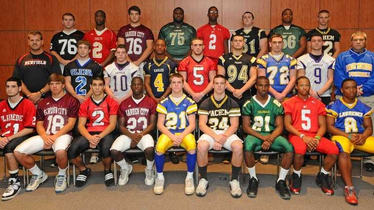 2011 ALL-LONG ISLAND FIRST TEAMFront row, from left: