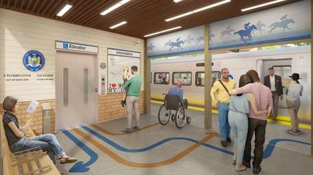 Rendering of the vestibule at the new train