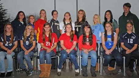2011 ALL-LONG ISLAND GIRLS SOCCER TEAMFront row, from