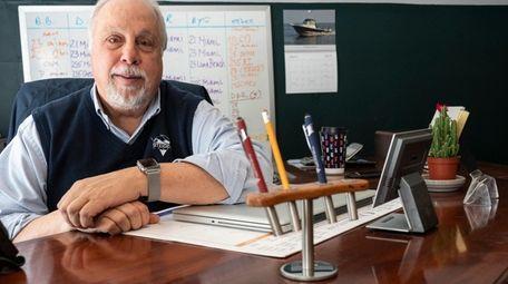 Alan Steiger's desk was build by a carpenter