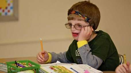 Bobby Narwath, 6, of Bethpage has Treacher-Collins Syndrome,