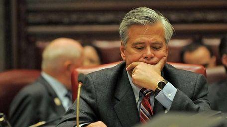 Senate Majority Leader Dean Skelos at the State