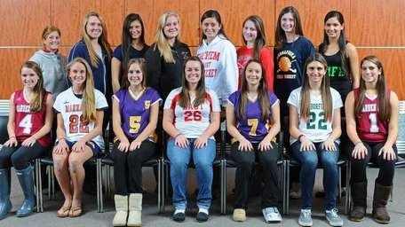All-Long Island field hockey first team Front row,
