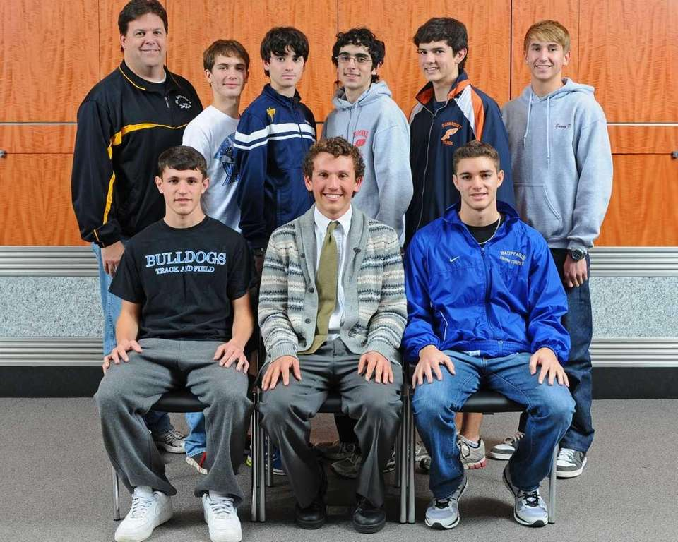 ALL-LONG ISLAND BOYS CROSS COUNTRY Front row, from