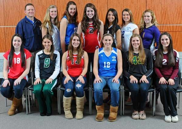 ALL LONG ISLAND GIRLS VOLLEYBALL FIRST TEAM Front