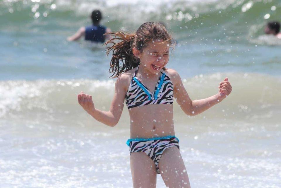 Rebecca Rando (6 yrs old) having fun in