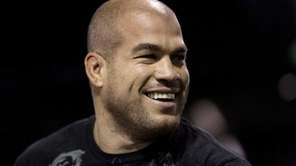Tito Ortiz appears during an open training session