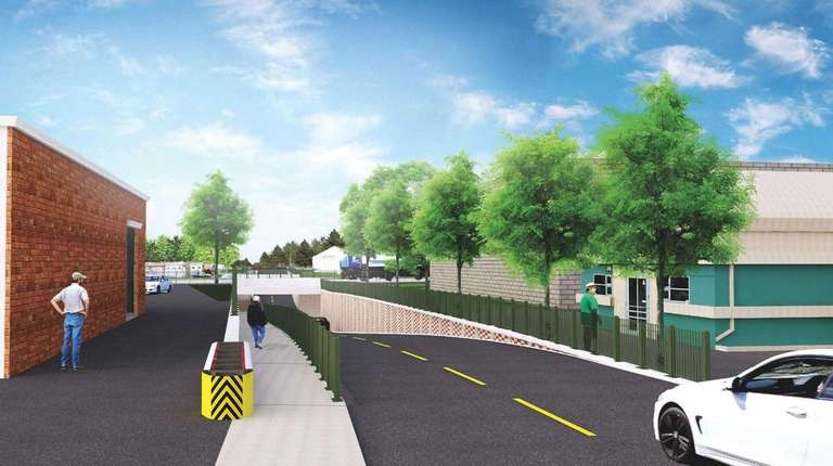 A rendering of a new overpass at Urban