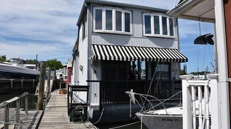 This three-story Port Washington home has three bedrooms,