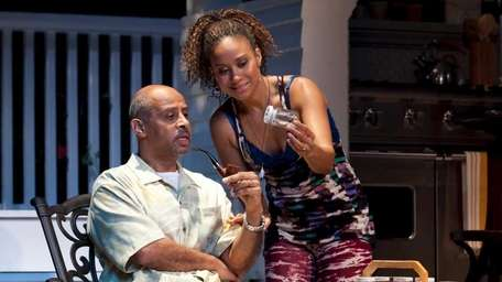 Pictured from left: Ruben Santiago-Hudson as Joe LeVay
