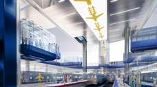 The interior of the proposed AirTrain terminal at