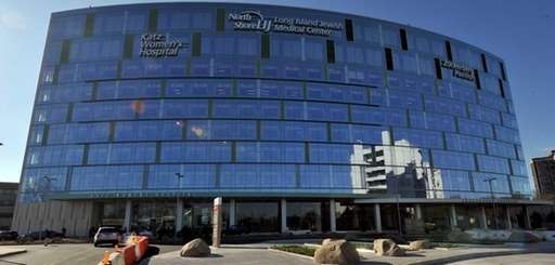 Long Island Jewish Medical Center's new 10-story glass