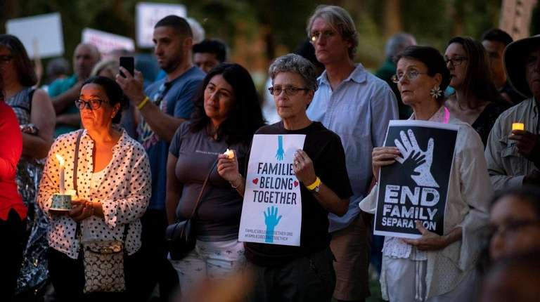 "Huntington residents attend ""Lights for Liberty: A Vigil"