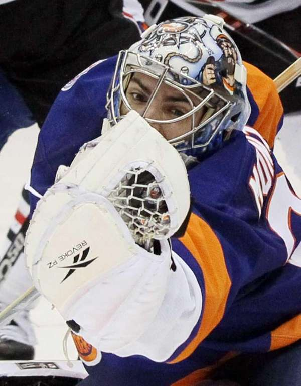 Al Montoya #35 of the New York Islanders