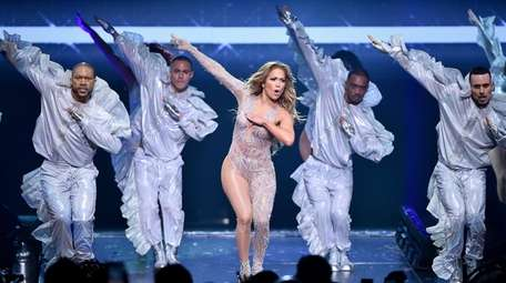 Jennifer Lopez performs during the It's My Party