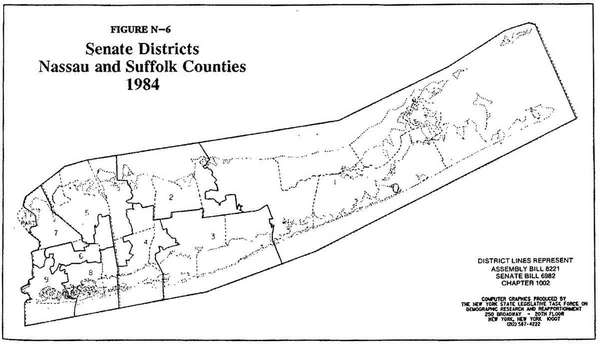 New York State Senate map for Long Island,