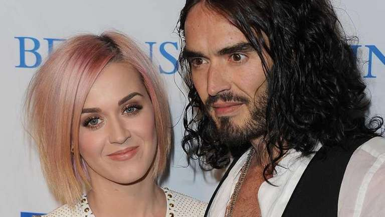 Singer Katy Perry and actor Russell Brand attend