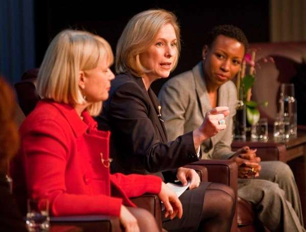 Sen. Kirsten Gillibrand (D-N.Y.) speaks at a forum