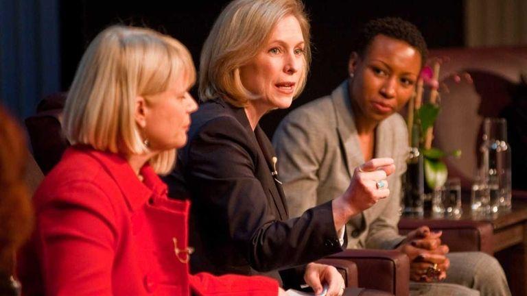 Sen. Kirsten Gillibrand (D-N.Y.) speaks at a forum