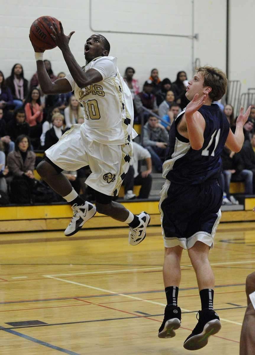 West Hempstead's Tyree Glascoe goes up for a