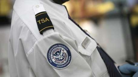 A Transportation Security Administration agent in New York