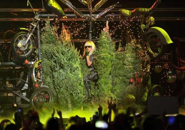 Singer Lady Gaga performs onstage during Z100's Jingle