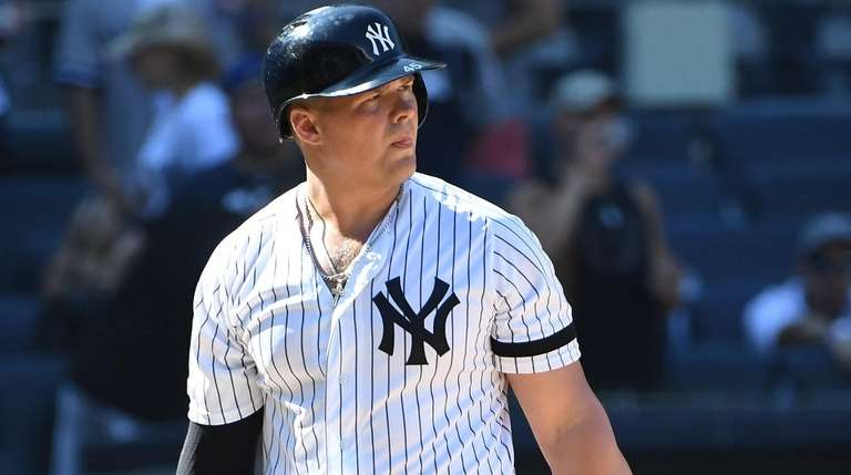 New York Yankees' Luke Voit returns to the
