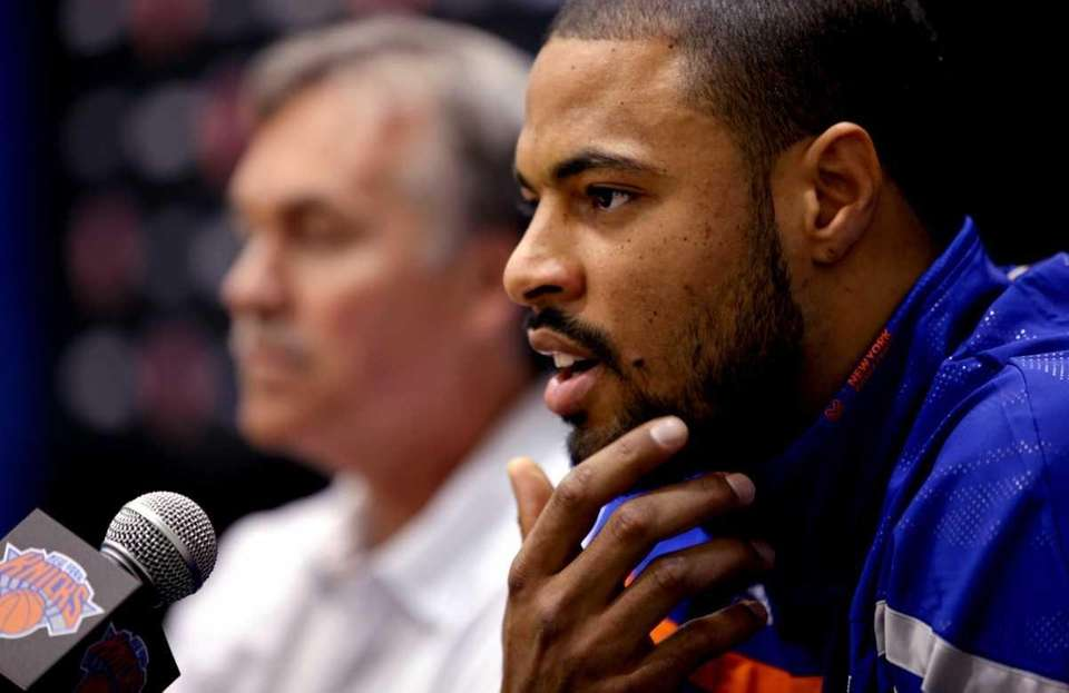 Former Dallas Mavericks center Tyson Chandler answers a