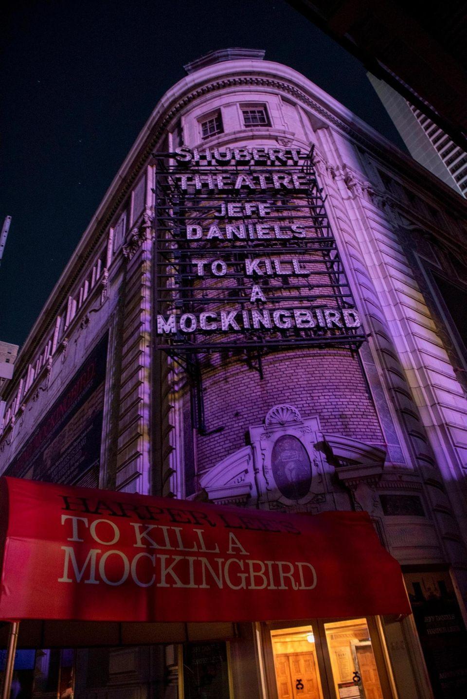 """To Kill a Mockingbird"" marquee was also dark."
