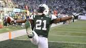New York Jets' LaDainian Tomlinson celebrates his touchdown