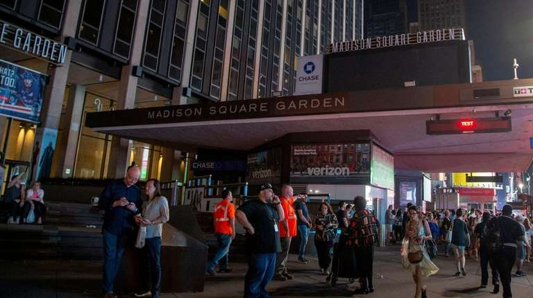 Madison Square Garden is dark Saturday night after