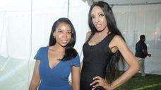 Johnsonce and Elena Ayot at The Hamptons Happening