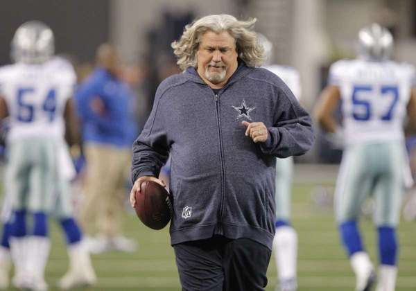 Cowboys defensive coordinator Rob Ryan is seen on