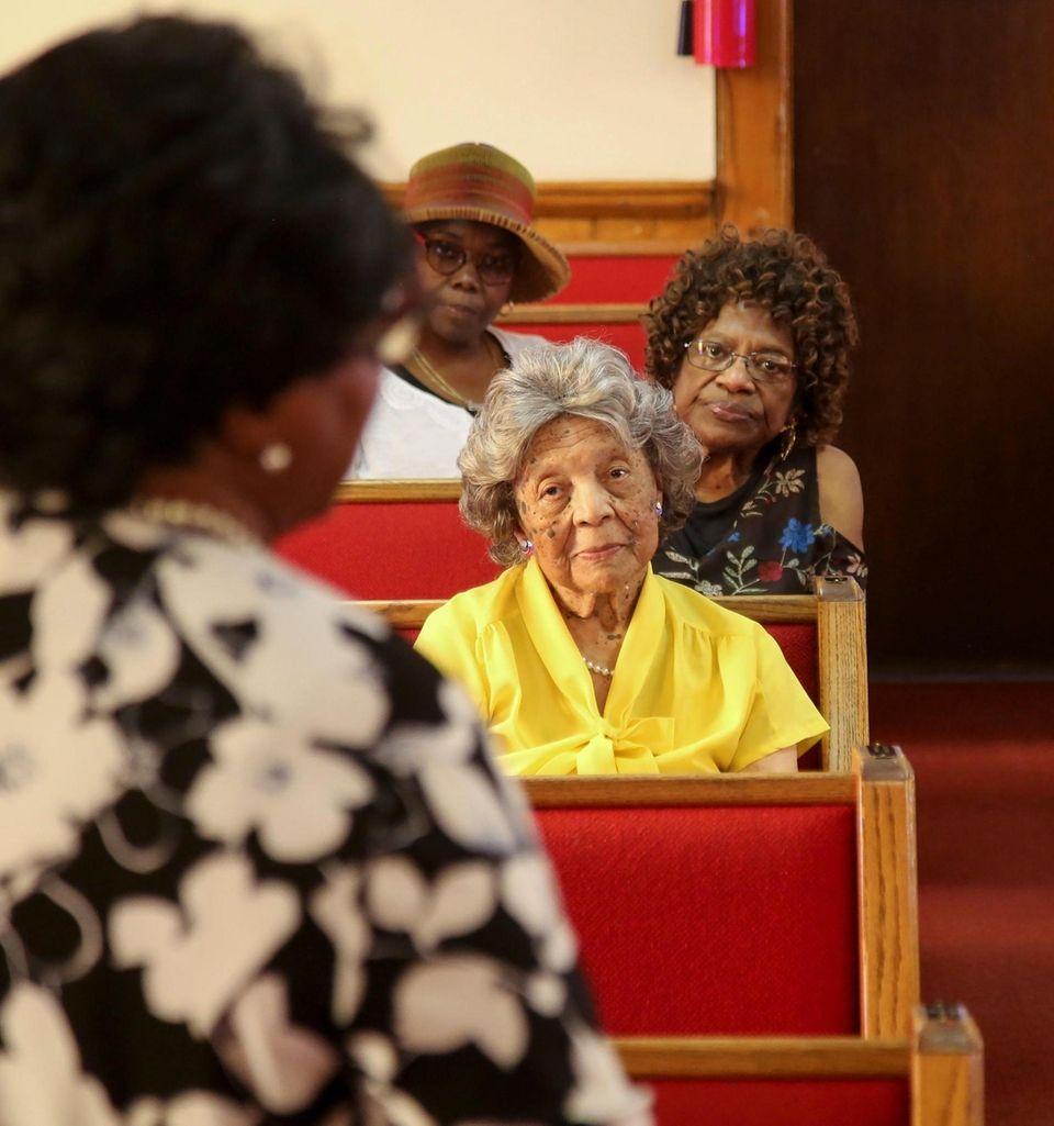 Congregants, front to back , Ella McClean, Jacqlyn