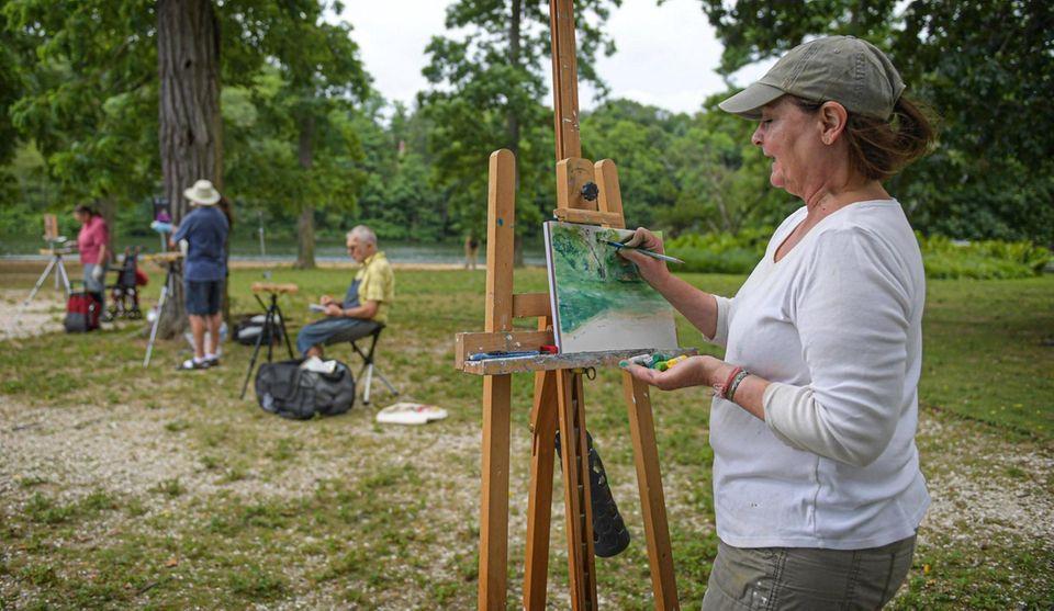 Art Student, Denise Douglas of Stony Brook works