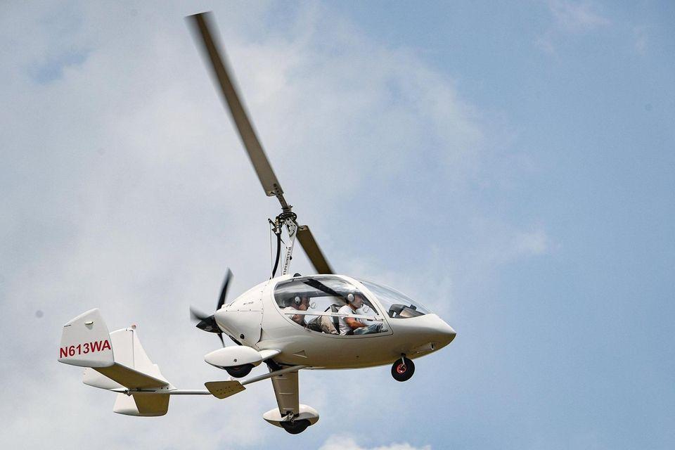 Robert Lutz, founder of Gyro Revolution, flys one