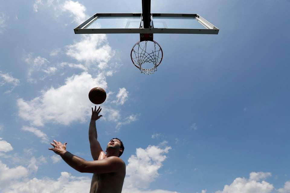 Devin Waxman, 20, of East Williston practices on