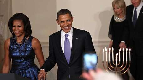 From left, first lady Michelle Obama, President Barack