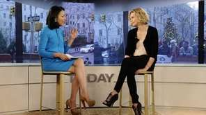 Co-host Ann Curry talks with actress Charlize Theron