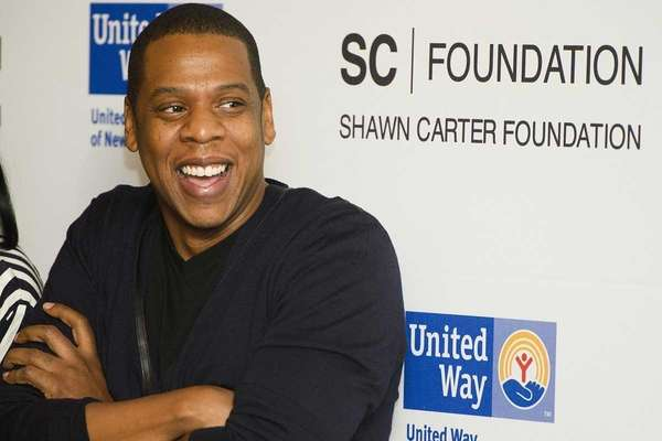 "Shawn ""Jay Z"" Carter attends a press event"